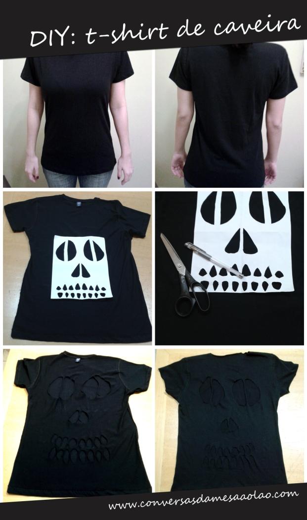 DIY T-Shirt de Caveira